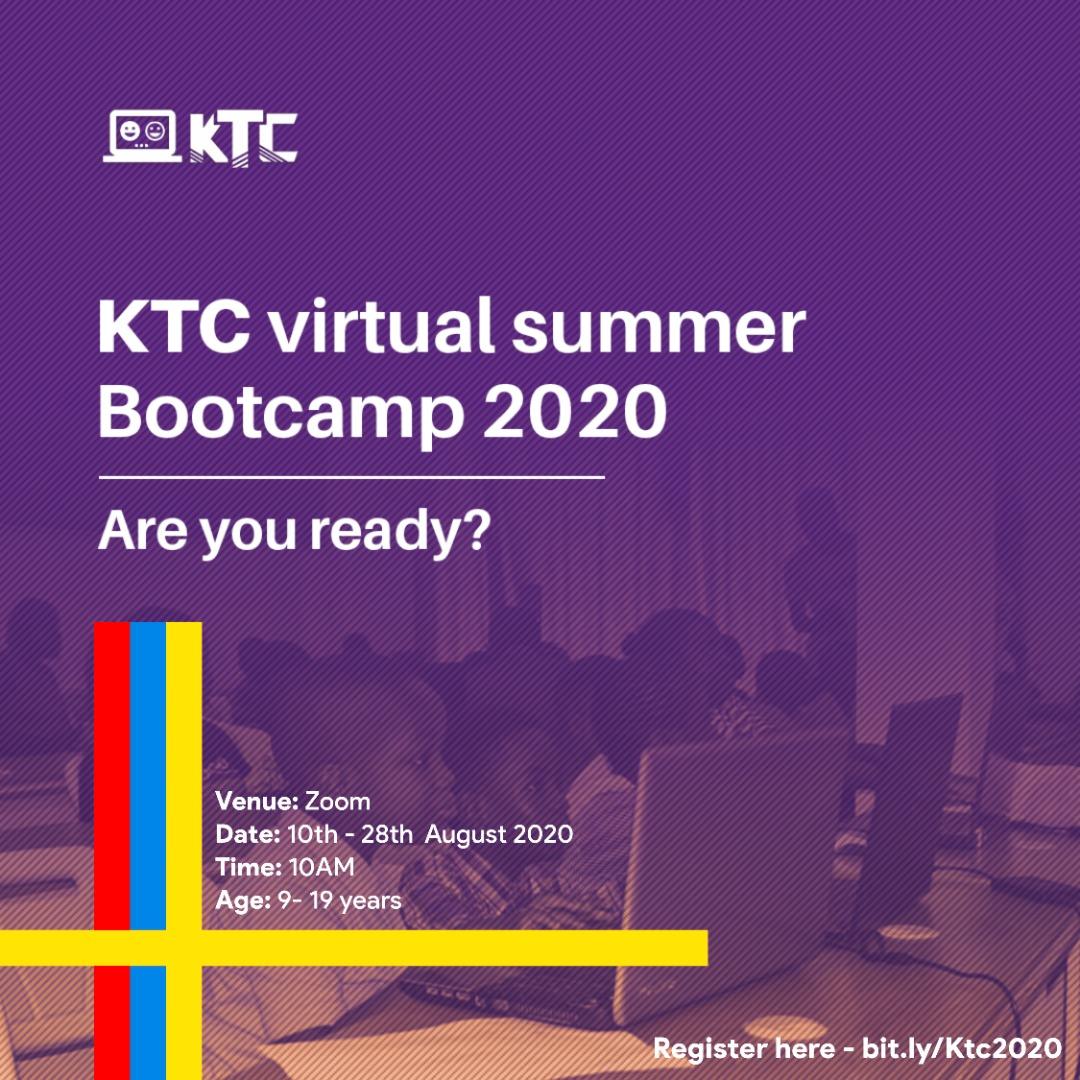 KidsThatCode Virtual Summer Bootcamp2020